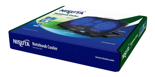 base para notebook hub usb 2p 4 fan luz reclinable
