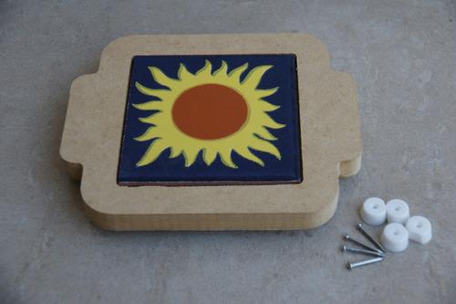 base para olla / sarten / refractario en mdf y ceramica