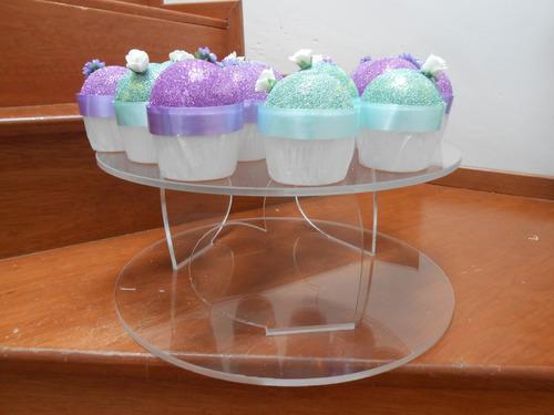 base para pastel acrilico redonda gruesa 40x40x15