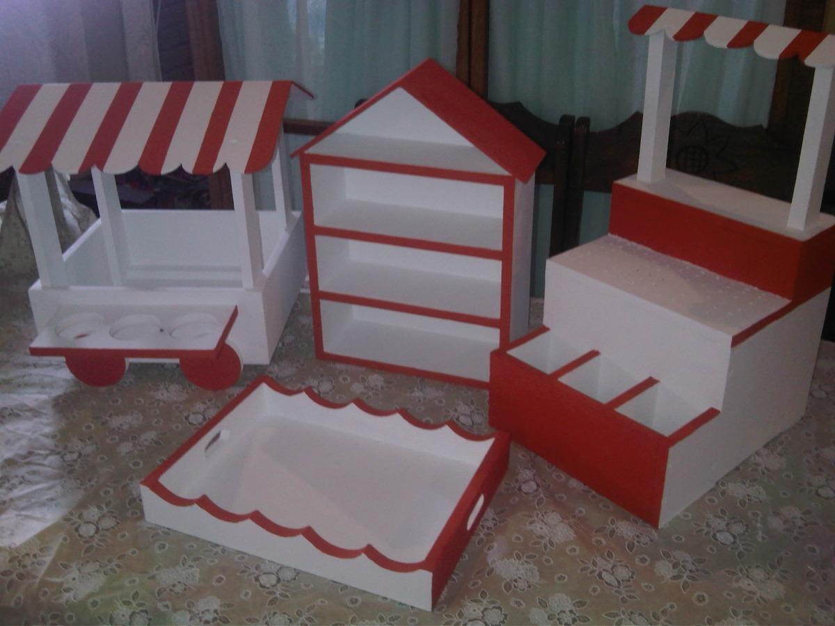 Base para ponquesitos candy bar kiosco para dulces bs for Imagenes de kioscos de madera