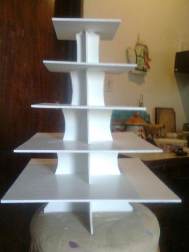 base para ponquesitos  cupcake 5 pisos reversible