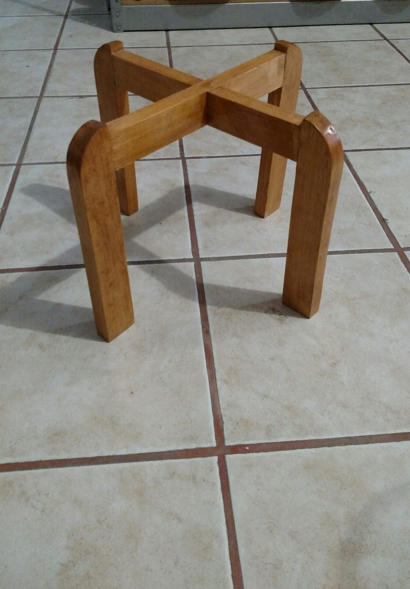 Base para portagarrafon de agua de madera para mesa for Bases de mesas cromadas