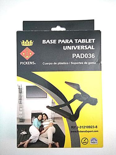 base para tablet universal plastico pickens pad036