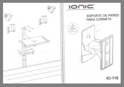 base pared para cornetas speaker o audio ionic