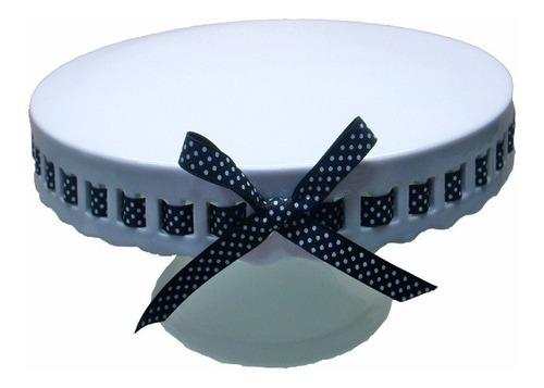 base pastel postres cupcakes porcelana blanca con listón