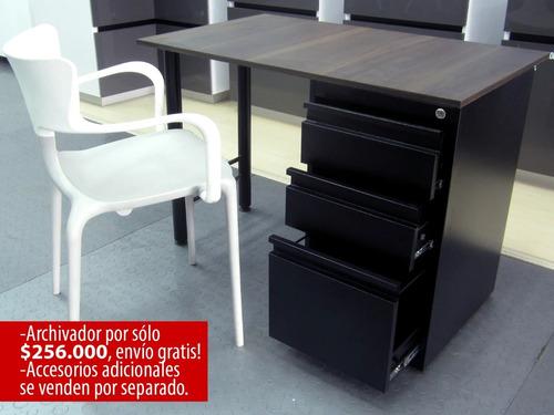 base pata costado escritorio color según disponibilidad