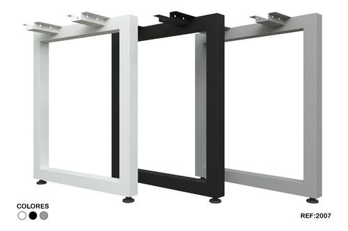 base pata costados para escritorio metalicas