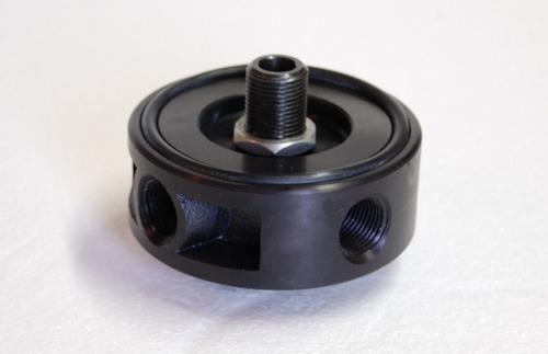 base porta filtro de aceite chevrolet competicion rmcomp