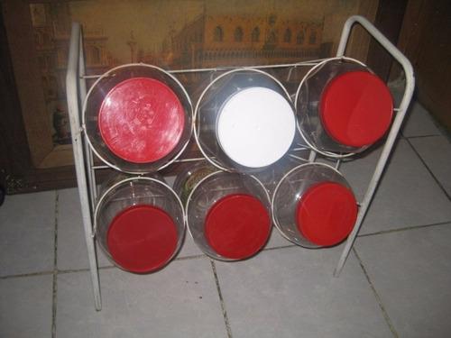 base porta frascos para puesto de jugos tortas o dulces
