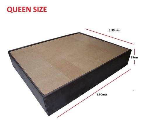 base queen size tapizada recamara chocolate envio gratis