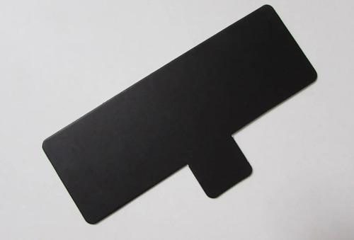 base rectangular ppm pestaña 13x4,5 cm (x200u) negro mármol