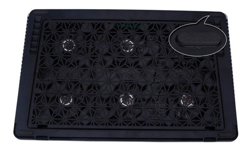 base refrigerante h8 reclinable 6 ventiladores leds