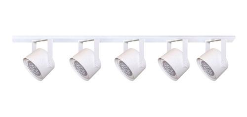 base riel 1 metro 5 spot movil halospot ar111 led 15w eco cabezal luz direccionable / lámparas + tachos + barral