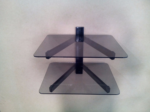base sin vidrio de 2 repisas para dvd blu-ray ps3 xbox decod