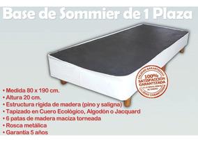 Somier Con Patas De Madera.Base Sommier Box Somier Cama 1 Plaza