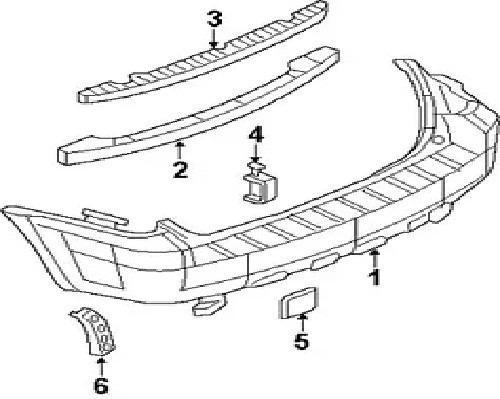 base soporte absorbedor parachoque trasero escape