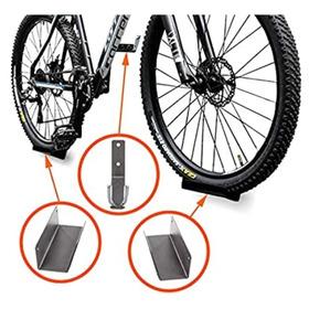 Base Soporte Bicicleta Pared Horizontal, Kit Para Una Cicla