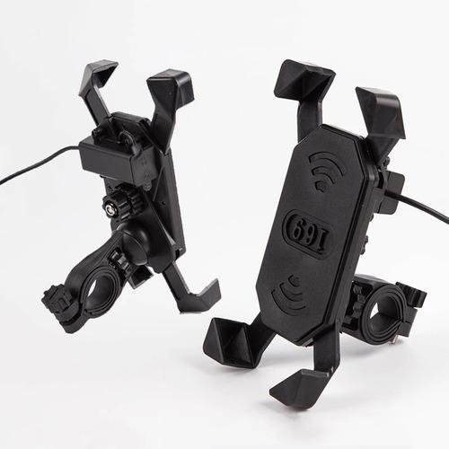 base soporte celular para moto manubrio con cargador usb ram