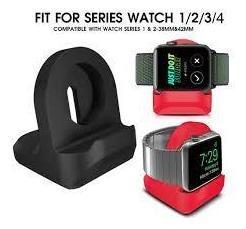 base soporte de silicone para apple watch 1, 2 3 y 4