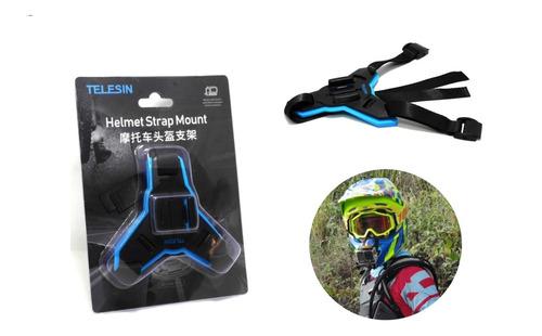 base soporte gopro casco barbilla mentón moto camaras arnes