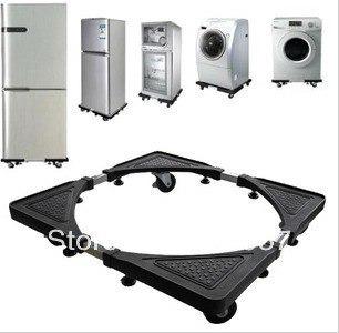 base soporte lavadora/nevera en acero inoxidable