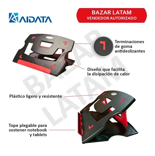 base soporte notebook aidata altura regulable ergonomico