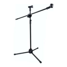 Base Stand Para Micrófono Boom Doble 2 Piañas Gratis