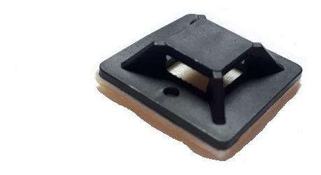 base sujeta cables para cinchos 100 piezas negro adheribles