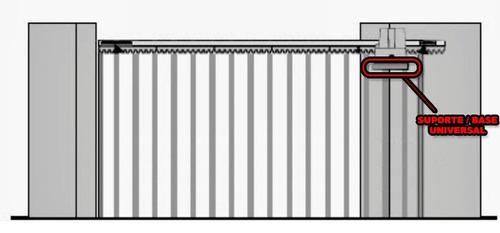 base suporte aéreo p/ motor portão eletrônico universal