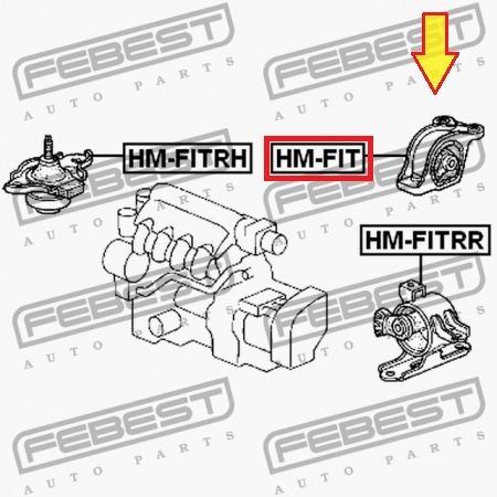 base trasera motor honda fit  automatico 02 - 08 febest