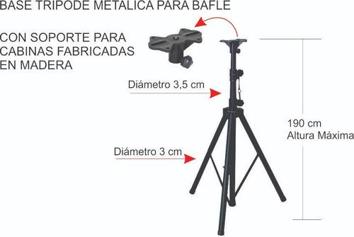 base trípode metálica para bafle cabina de sonido resist 60k