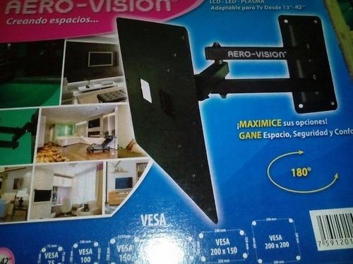 base tv 10 a 42  giratoria led lcd smart qoled aero visión