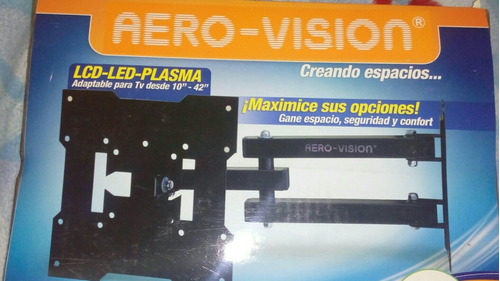 base tv 10 a 42  giratoria led lcd smart qoled aero visión