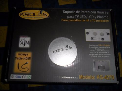 base tv  krolls kg-3255 incluye cable de hdmi