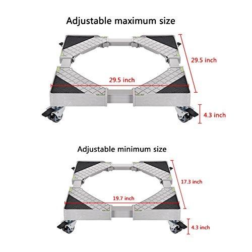 base universal movil con 8 ruedas refrigerador movil ajustab