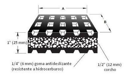 base vibrastop antivibratoria modelo vs 12 220  x 165 mm