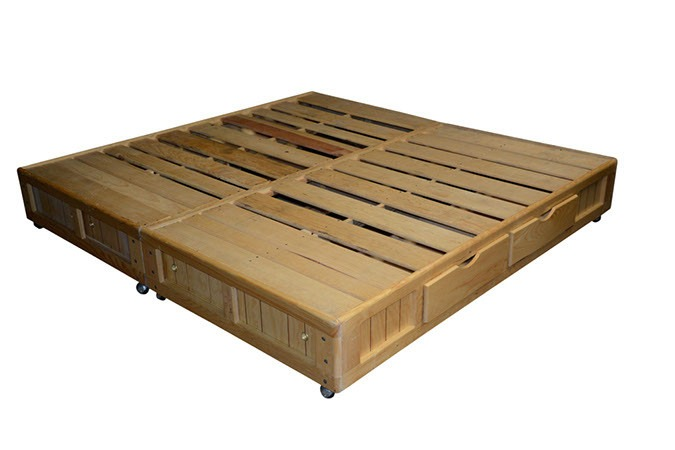 Bases cama king size madera base cama king size cajones for Cama queen size or king size