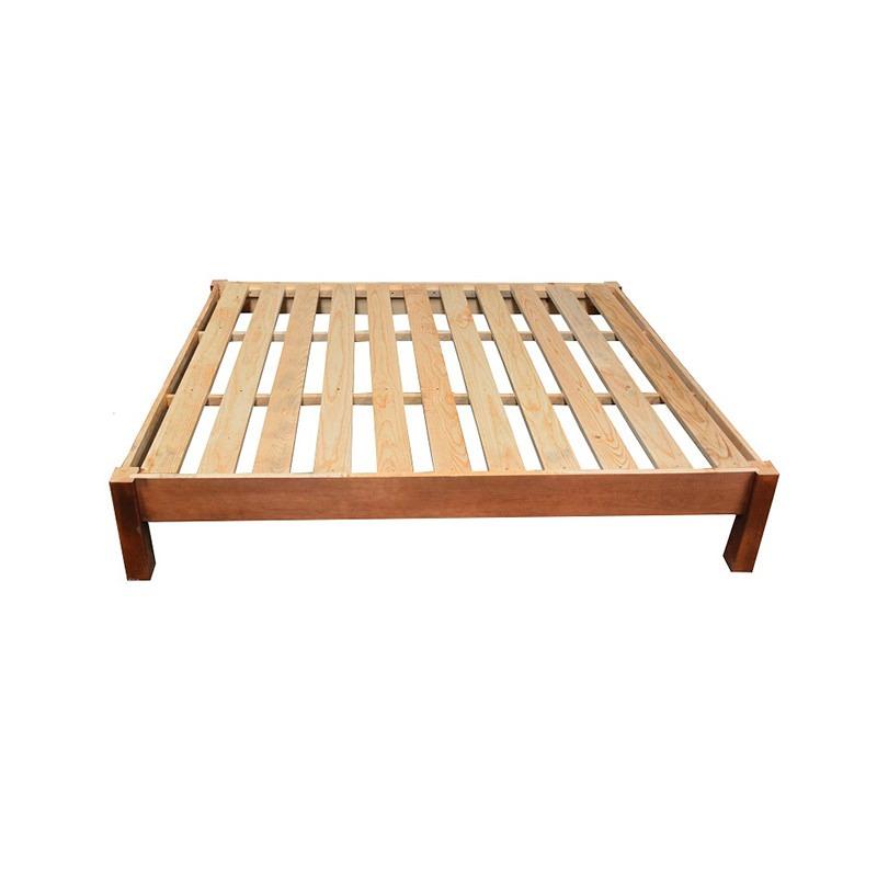 Bases cama queen size minimalista modernista madera for Camas de madera precios