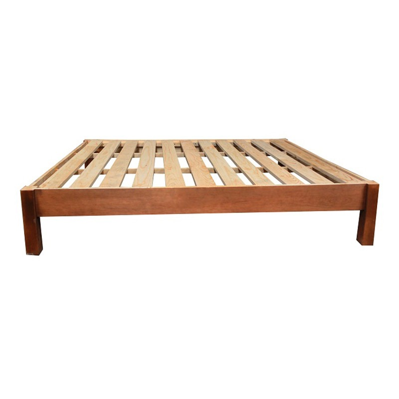 Bases cama queen size minimalista modernista madera for Base para cama queen size minimalista
