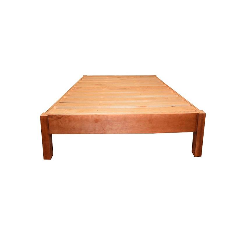 Base queen size de madera minimalista bases de camas for Base para cama queen size minimalista