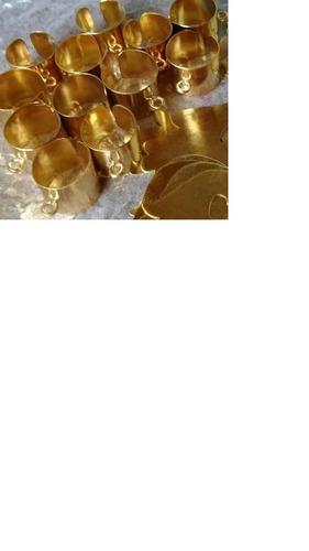 bases de anillos con baño de oro