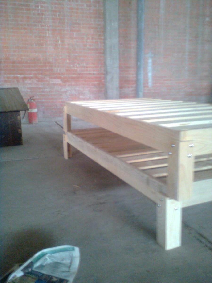 Bases de cama individual de madera en mercado libre - Bases de camas de madera ...