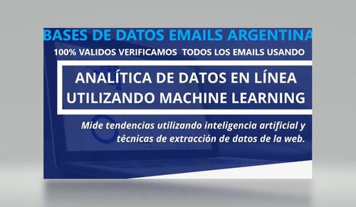 bases de datos emails empresas argentina emails envio masivo