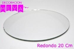 bases de espejo redondo y cuadrados, centro de mesa, 15 años