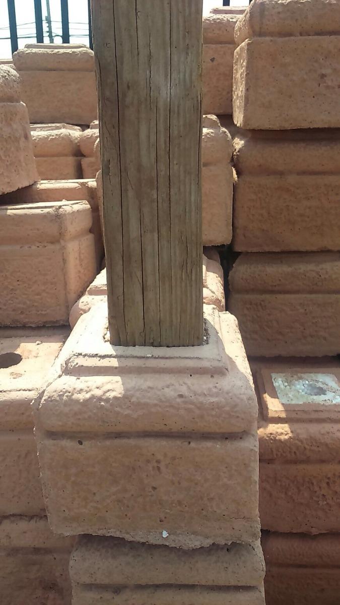 Bases de hormig n para pilares de madera en for Bases para pergolas