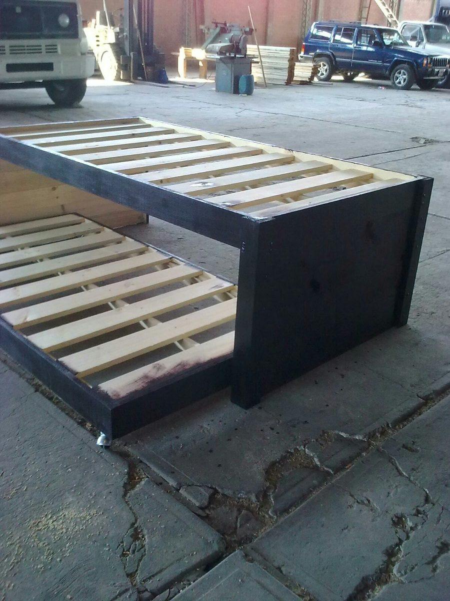 Bases de madera para cama canguro individual sin cajones 2 en mercado libre - Estructura cama cajones ...
