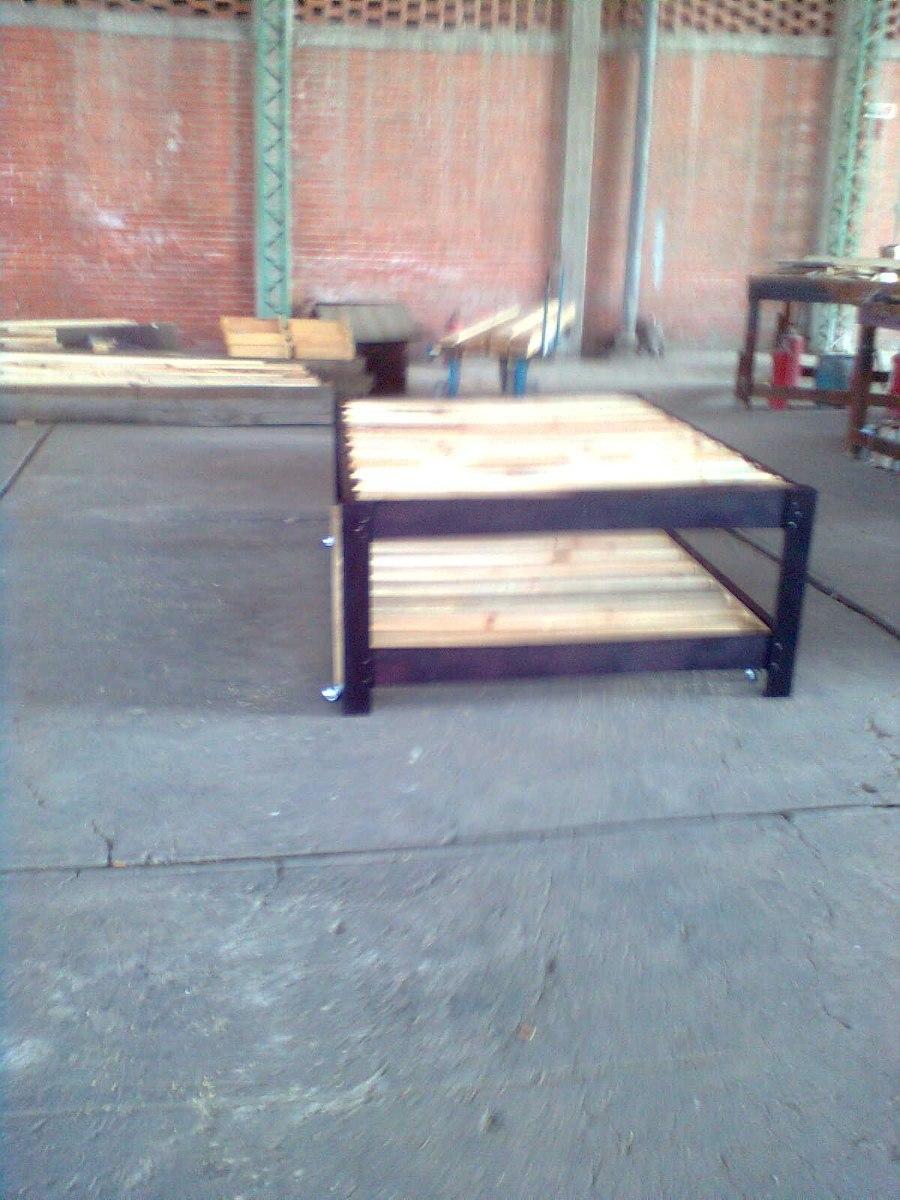 Bases de madera para cama canguro matrimonial e individual for Medidas base de cama matrimonial