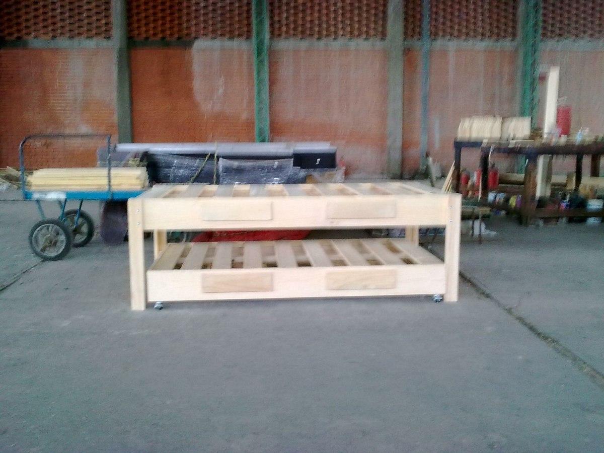Bases de madera para cama canguro matrimonial e individual for Cama matrimonial precio