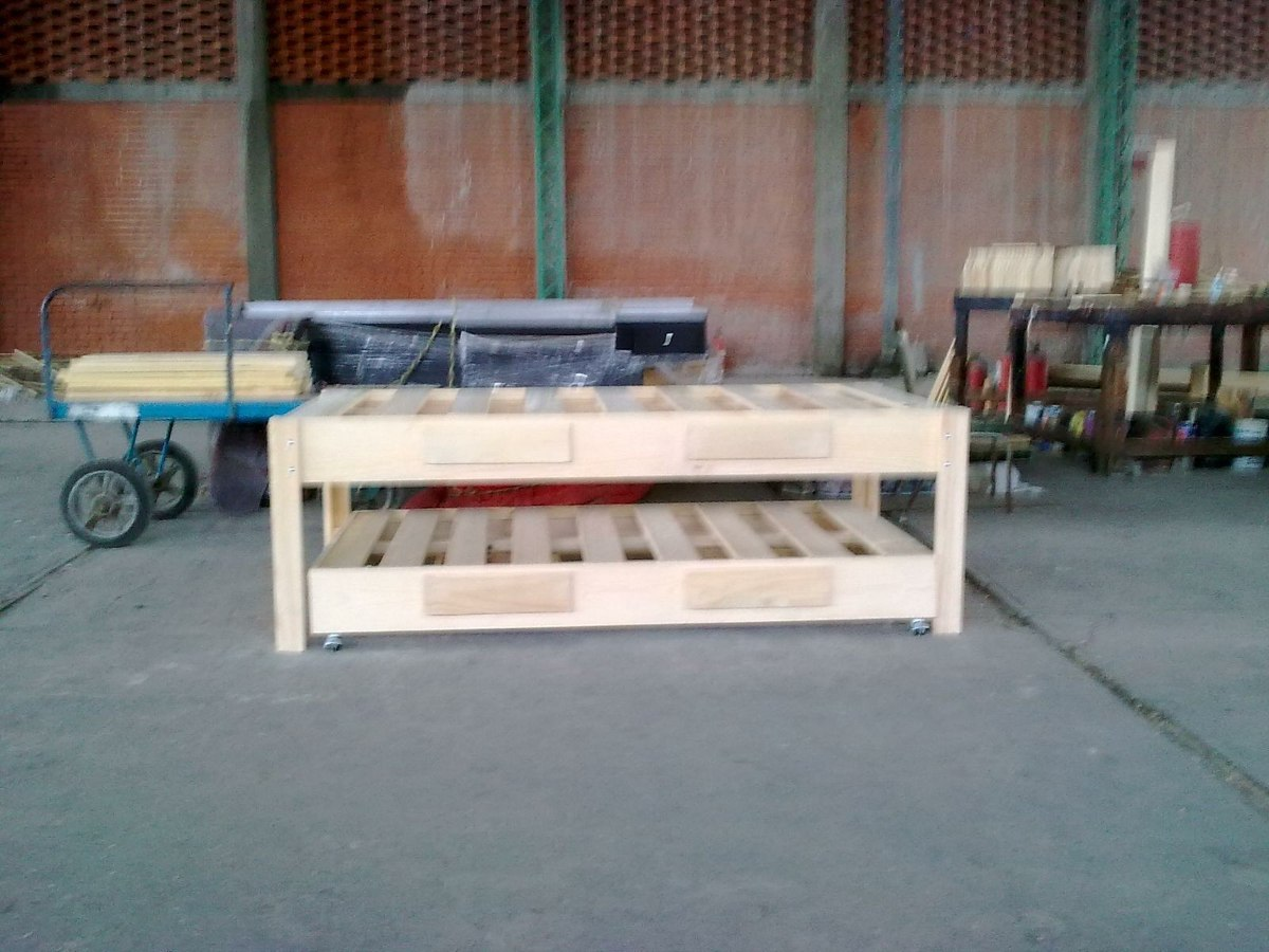 Bases de madera para cama canguro matrimonial e individual - Bases de camas de madera ...