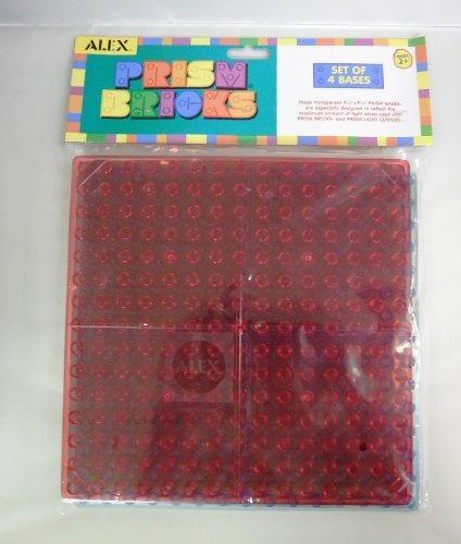 bases de prisma 9 1/2 x 9 1/2 juego de 4 colores